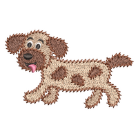 Scruffy puppy fill stitch machine embroidery design by rosiedayembroidery.com