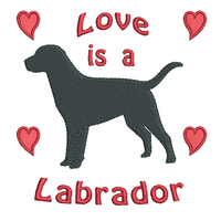 Labrador Retriever dog machine embroidery design by rosiedayembroidery.com