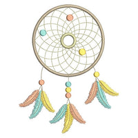 Dream Catcher machine embroidery design by rosiedayembroidery.com