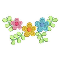 Floral Machine Embroidery Design by rosiedayembroidery.com