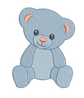 Cute mini teddy bear machine embroidery design by rosiedayembroidery.com