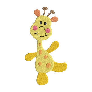 Cute giraffe machine embroidery design by rosiedayembroidery.com