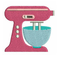 Mini kitchen mixer machine embroidery design by rosiedayembroidery.com