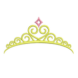 Princess crown machine embroidery design by rosiedayembroidery.com