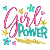 Girl Power machine embroidery design by rosiedayembroidery.com