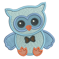 Baby boy owl machine embroidery design by rosiedayembroidery.com