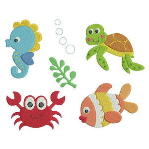 Sealife machine embroidery designs by rosiedayembroidery.com