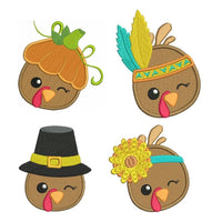 Thanksgiving turkey machine embroidery designs by rosiedayembroidery.com