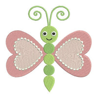 Cute butterfly machine embroidery design by rosiedayembroidery.com