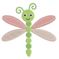 Cute dragonfly machine embroidery design by rosiedayembroidery.com