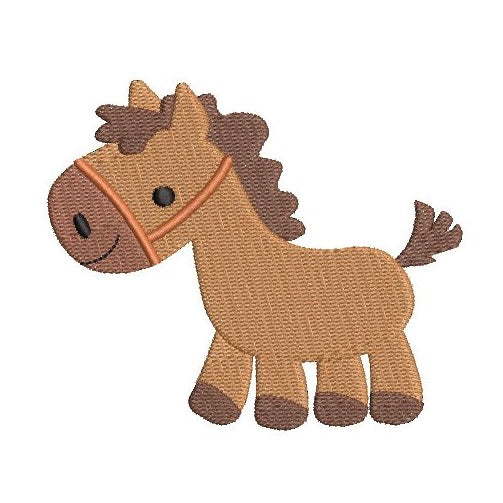 Cute mini horse machine embroidery design by rosiedayembroidery.com