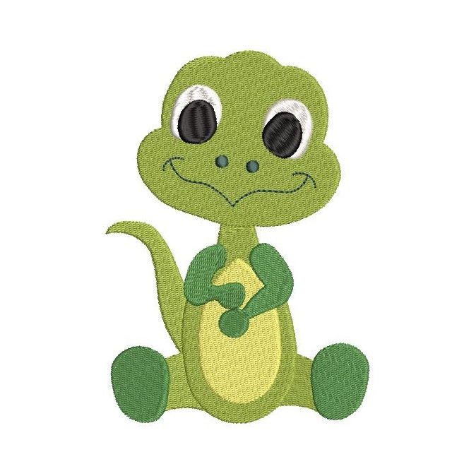 Baby dinosaur machine embroidery design by rosiedayembroidery.com