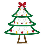 Christmas tree applique machine embroidery design by rosiedayembroidery.com