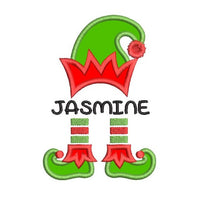 Christmas elf applique machine embroidery design by rosiedayembroidery.com