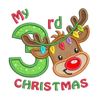 My 3rd Christmas applique machine embroidery design by rosiedayembroidery.com