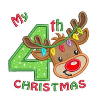 My 4th Christmas applique machine embroidery design by rosiedayembroidery.com