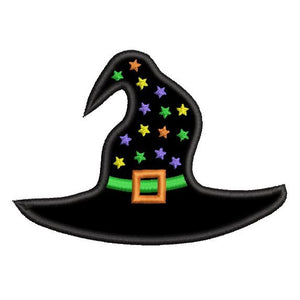 Halloween witch's hat applique machine embroidery design by rosiedayembroidery.com