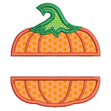 Halloween pumpkin applique machine embroidery design by rosiedayembroidery.com
