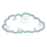 Weather cloud applique machine embroidery design by rosiedayembroidery.com