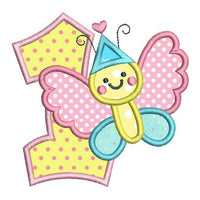 1st Birthday Butterfly Applique (SA510-51)