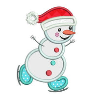 Christmas snowman applique machine embroidery design by rosiedayembroidery.com