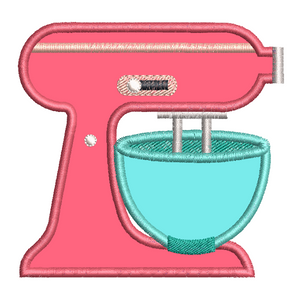 Kitchen mixer applique machine embroidery design by rosiedayembroidery.com