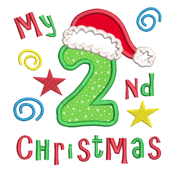 My 2nd Christmas Applique Machine Embroidery Design by rosiedayembroidery.com