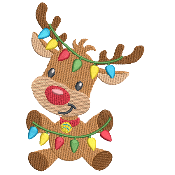 christmas reindeer machine embroidery design rosieday embroidery