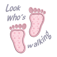 Baby feet applique machine embroidery design by rosiedayembroidery.com