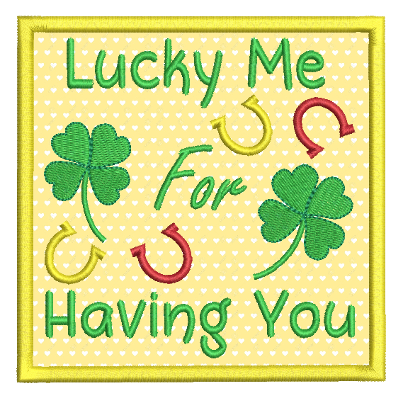 St Patrick's Day applique machine embroidery design by rosiedayembroidery.com