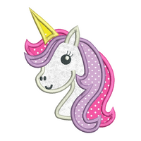 Unicorn applique machine embroidery design by rosiedayembroidery.com
