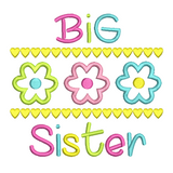 Big Sister applique embroidery design by rosiedayembroidery.com
