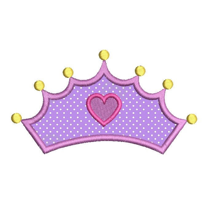Princess crown applique embroidery design by rosiedayembroidery.com