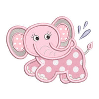 Baby elephant machine embroidery designs by rosiedayembroidery.com