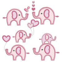 Baby elephant applique machine embroidery designs by rosiedayembroidery.com