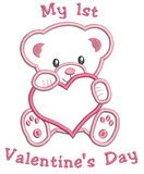 My 1st Valentine's Day Teddy Applique (SA546-11)