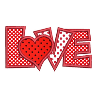 Love word applique machine embroidery design by embroiderytree.com