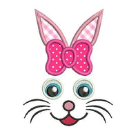 Easter Bunny applique machine embroidery designs by rosiedayembroidery.com