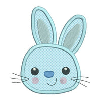 Easter Bunny applique machine embroidery design by rosiedayembroidery.com