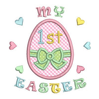 My 1st Easter applique machine embroidery design by rosiedayembroidery.com