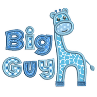 Big guy giraffe applique machine embroidery design by rosiedayembroidery.com