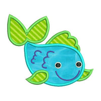 Cute fish applique machine embroidery design by rosiedayembroidery.com