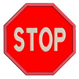 Stop sign applique machine embroidery design by rosiedayembroidery.com