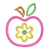 Apple applique machine embroidery design by embroiderytree.com