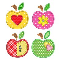 Apples applique machine embroidery design set by embroiderytree.com