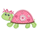 Turtle applique machine embroidery design by rosiedayembroidery.com