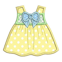 Baby sun dress applique machine embroidery design by rosiedayembroidery.com
