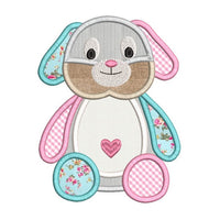 Bunny machine embroidery applique design by rosiedayembroidery.com