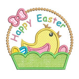 Easter chick applique machine embroidery designs by rosiedayembroidery.com