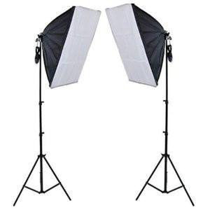 2 Head Economy Softbox 50 cm x 70 cm with 5 Bulb Holder - Backdropsource India - 1